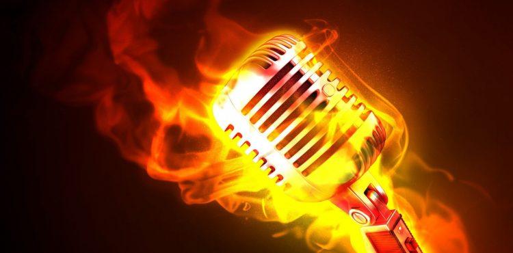mic-on-fire